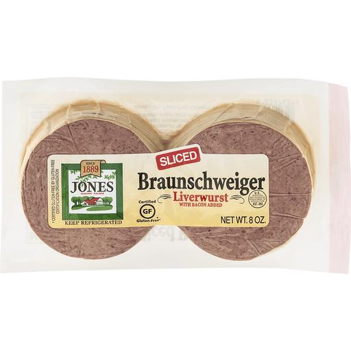 Jones Dairy Farm Sliced Braunschweiger Liverwurst 8 oz. Well