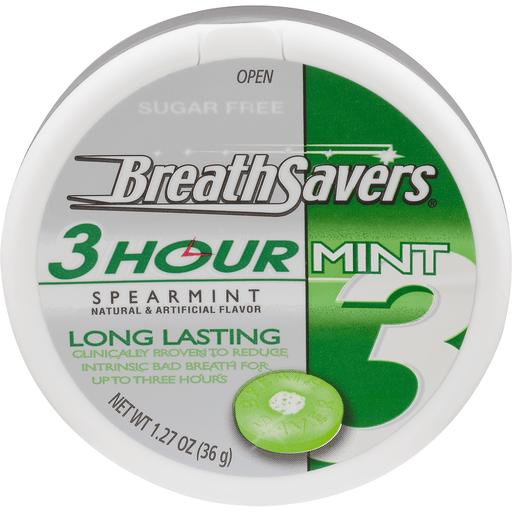 Breath Savers Mint, 3 Hour, Spearmint