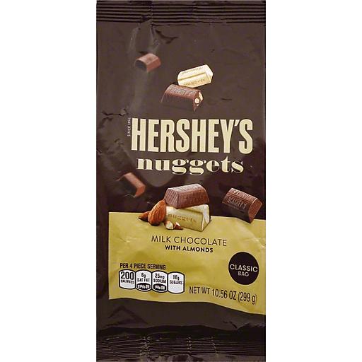 Hersheys Nuggets Milk Chocolate, with Almonds