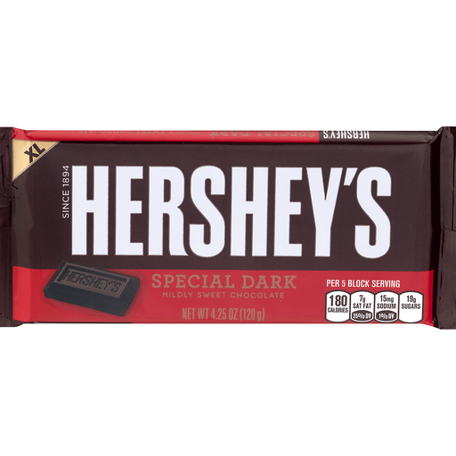 Hersheys Special Dark Chocolate, Mildly Sweet, XL