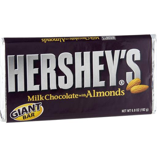 Hersheys Milk Chocolate, with Almonds, Giant