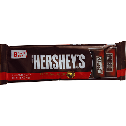 HERSHEY'S SPECIAL DARK Mildly Sweet Chocolate Snack Size Bars, 3.6-Ounce Bars
