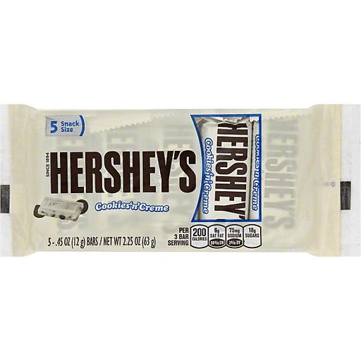 Hersheys Chocolate, Cookies 'n' Creme, Snack Size