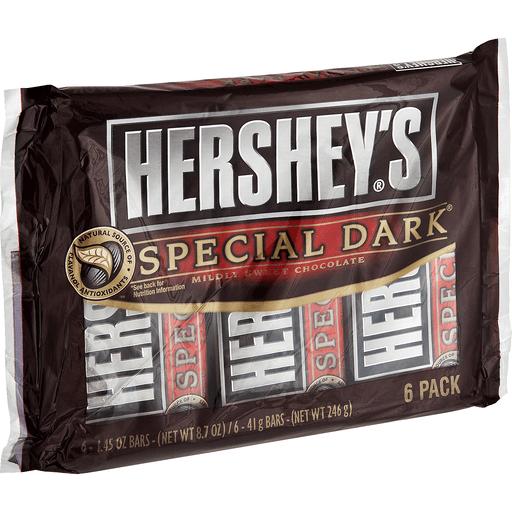 Hersheys Chocolate, Mildly Sweet, Special Dark, Full Size