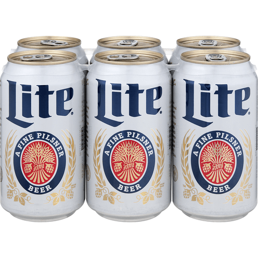 Miller Lite Beer Cans - 6 CT