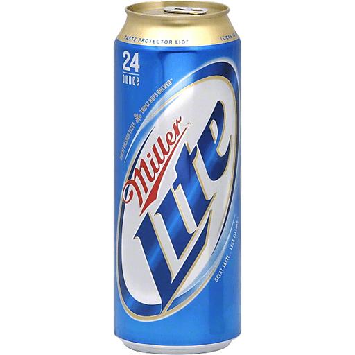 Miller Lite Beer, 24 oz. Can