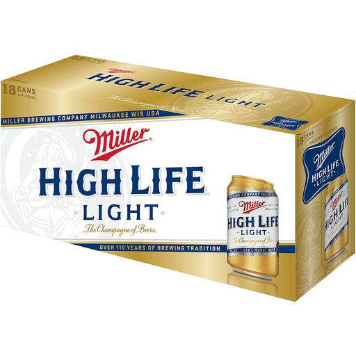 Miller High Life Beer, 18 Pack, 12 fl. oz. Can, 4.6% ABV