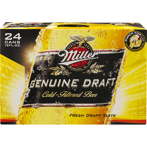 Miller Genuine Draft Beer, Cold-Filtered