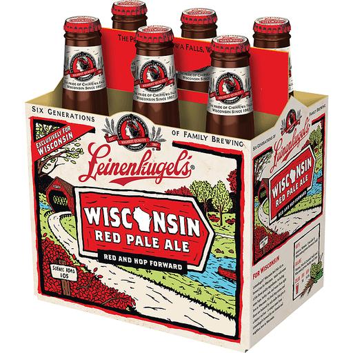 Leinenkugel's Wisconsin Red Pale Ale Beer, 6 Pack, 12 fl. oz. Bottles, 5.6% ABV
