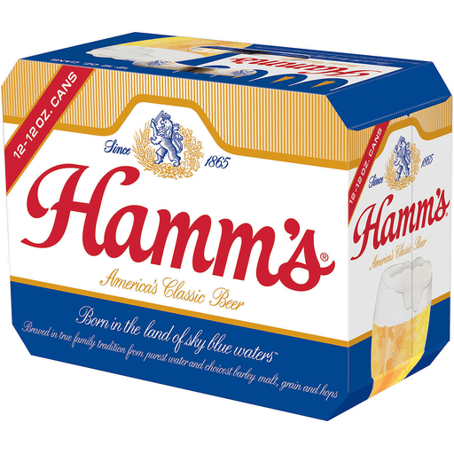 Hamm's America's Classic Premium Beer, 12 Pack, 12 fl. oz. Cans, 4.7% ABV