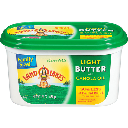 Land O Lakes Butter, Light, with Canola Oil, Family Size!