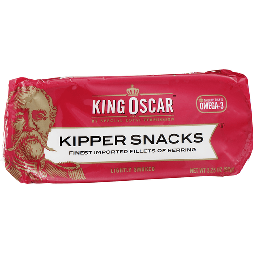 King Oscar Kipper Snacks Finest Imported Fillets of Herring