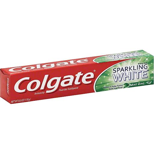Colgate Baking Soda Sparkling White Fluoride Toothpaste Mint Zing