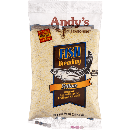 Andys Seasoning Fish Breading, Yellow