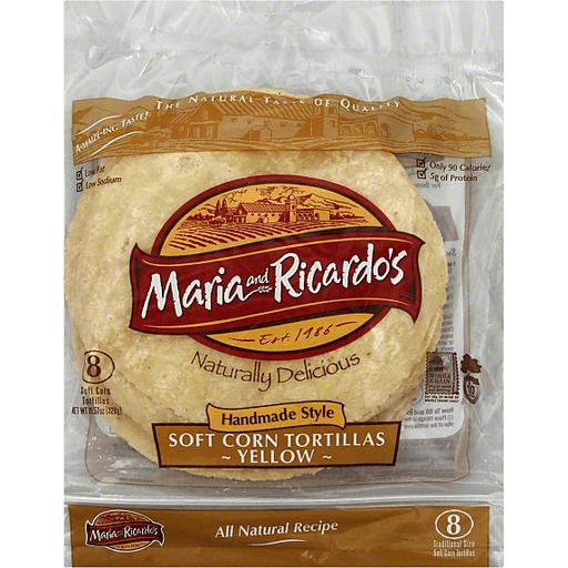 Maria And Ricardos Tortillas Soft Corn Yellow Handmade Style Traditional Size Shop Holiday Market Canton