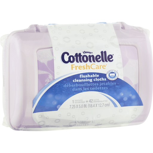 Cottonelle Flushable Cleansing Cloths 42 ct Package