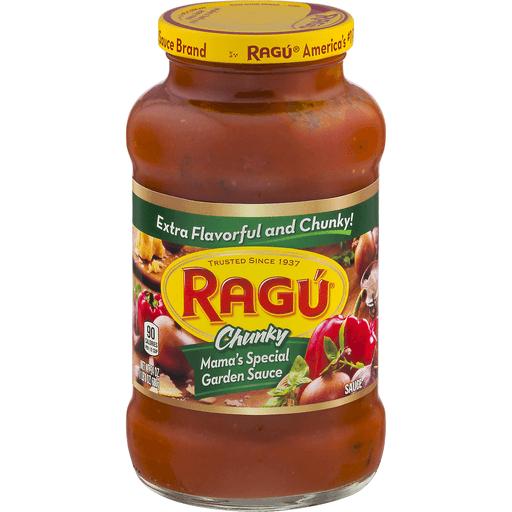 Ragu Chunky Sauce, Mama's Special Garden Sauce