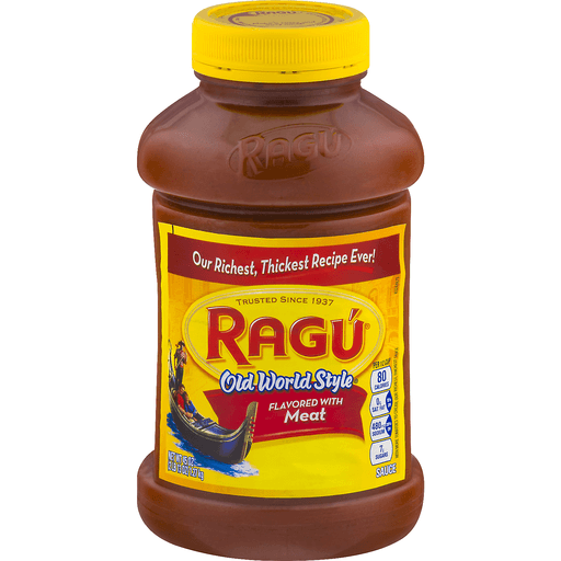Ragu Old World Style Sauce, Flavored with Meat