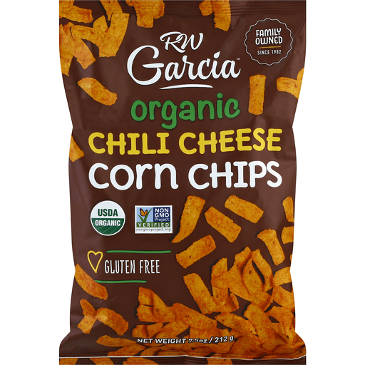 Rw Garcia Corn Chips Organic Chili Cheese Chips Good Earth Natural Foods