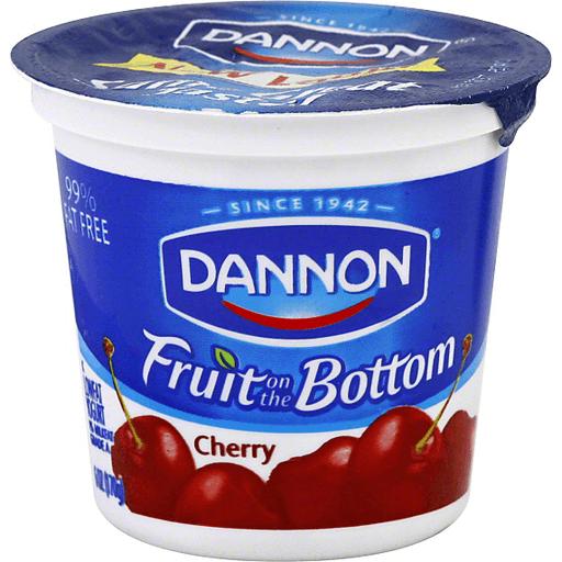 Dannon Yogurt Lowfat Fruit On The Bottom Cherry Low Fat Nonfat Leyo S Supermarket