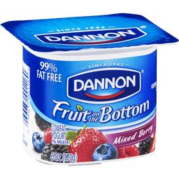 Dannon Yogurt, Lowfat, Fruit on the Bottom, Mixed Berry