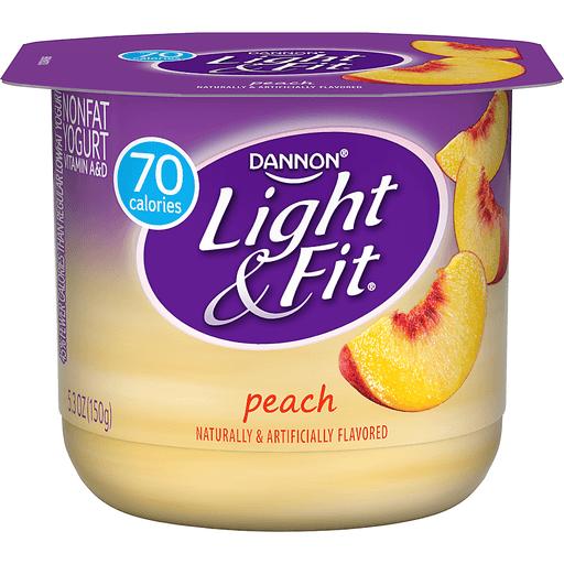 Light & Fit Yogurt, Nonfat, Peach