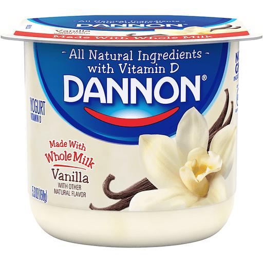 Dannon Yogurt, Vanilla