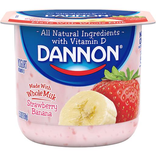 Dannon Yogurt, Strawberry Banana