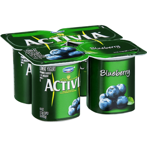 Activia Yogurt, Lowfat, Blueberry