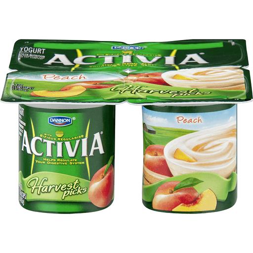 Dannon Activia Harvest Picks Peach