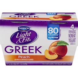 Dannon Light & Fit Greek Nonfat Yogurt Peach - 4 CT