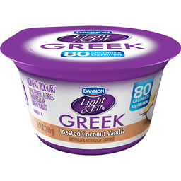 Dannon Light U0026 Fit Greek Yogurt, 4 Pack, Coconut Vanilla