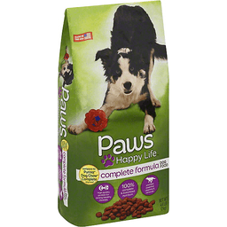 Paws Happy Life Dog Food, Complete Formula