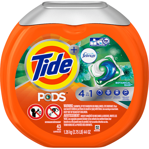 Tide Pods Plus Febreze Detergent, 4 in 1, Botanical Rain