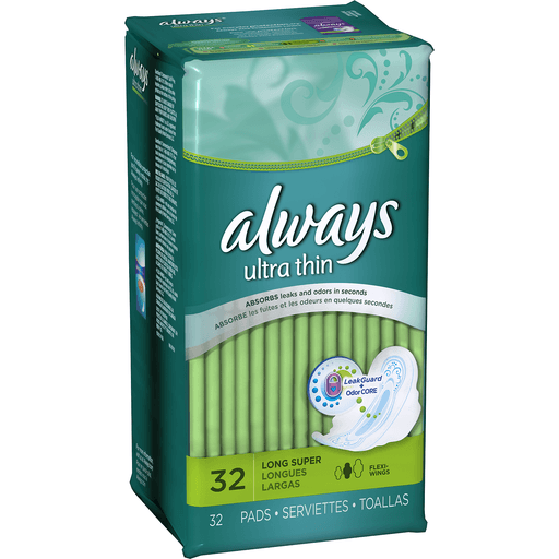 Always Ultra Thin Pads, with Flexi-Wings, Size 2 (Long Super)