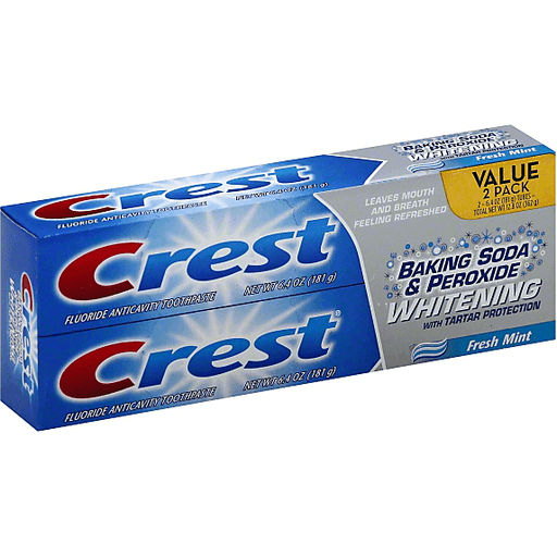 Crest Baking Soda Peroxide Whitening With Tartar Protection
