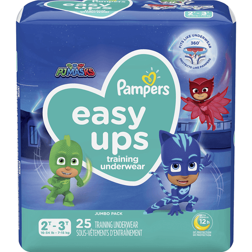 Pampers Easy Ups Training Underwear Pj Masks 2t 3t 16