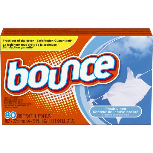 Bounce Fabric Softener, Sheets, Fresh Linen