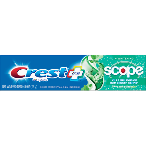 Crest Scope Complete Whitening Toothpaste Minty Fresh 4 0 Oz