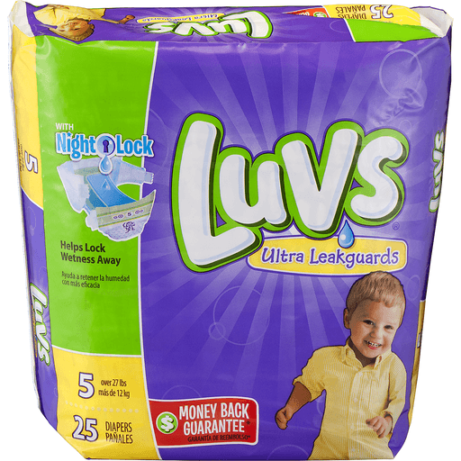 Luvs Ultra Leakguards Diapers, Size 5 (Over 27 lbs)