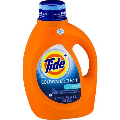 Tide + Coldwater Clean Laundry Detergent Fresh Scent
