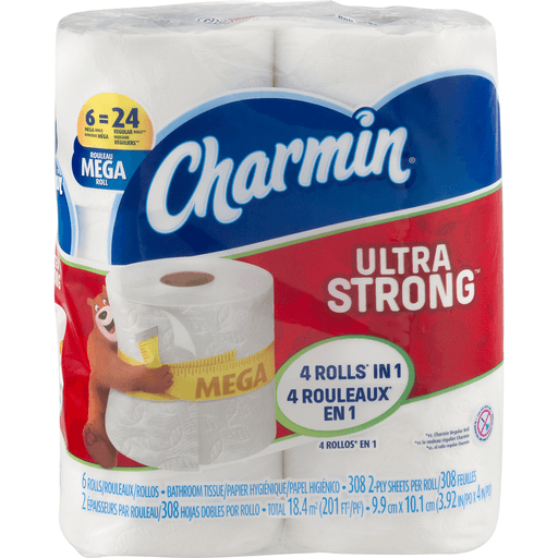 Charmin Ultra Strong Bathroom Tissue, Mega Roll, 2-Ply