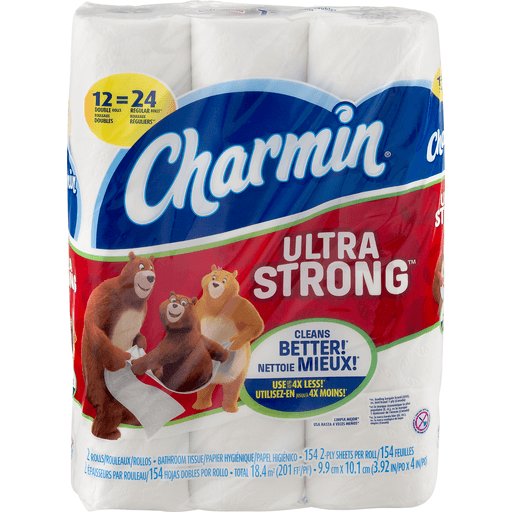 Charmin Ultra Strong Bathroom Tissue, Double Roll, 2-Ply