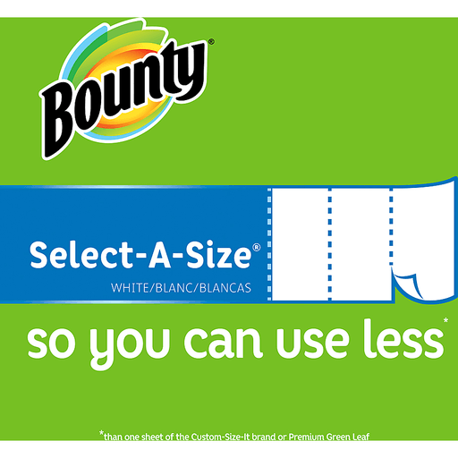 Bounty Paper Towels, Select-A-Size, Big Rolls, White, 2-Ply