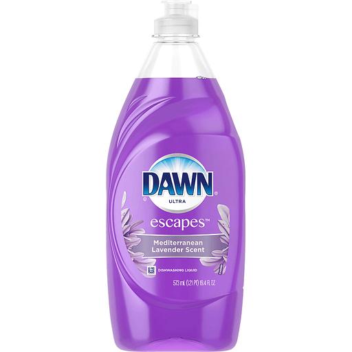 Dawn Ultra Escapes Dishwashing Liquid, Mediterranean Lavender Scent