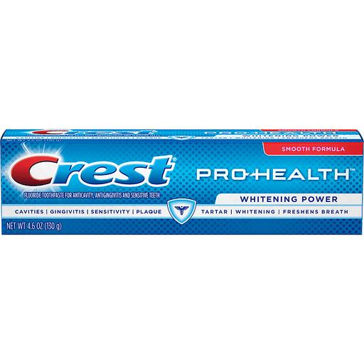 Crest Pro-Health Smooth Formula Toothpaste Whitening Power