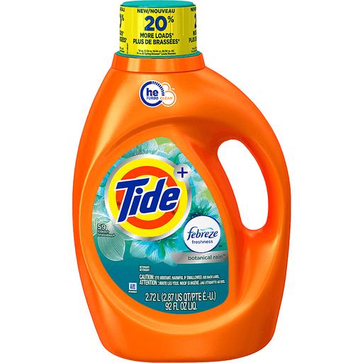 Tide Laundry Detergent, Febreze Freshness, Botanical Rain