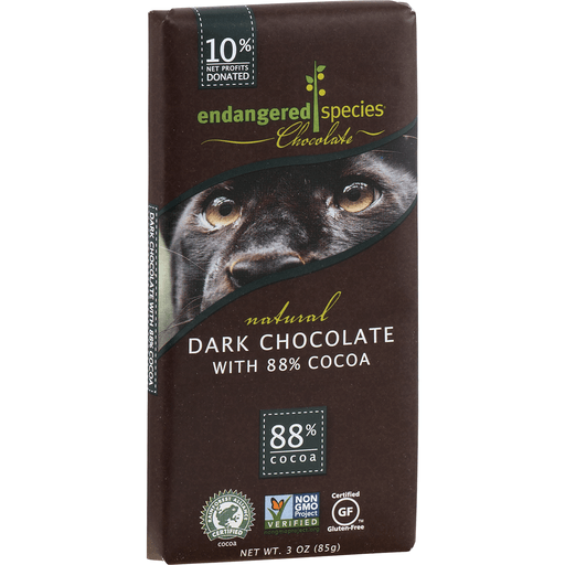 Endangered Species Dark Chocolate, with 88% Cocoa