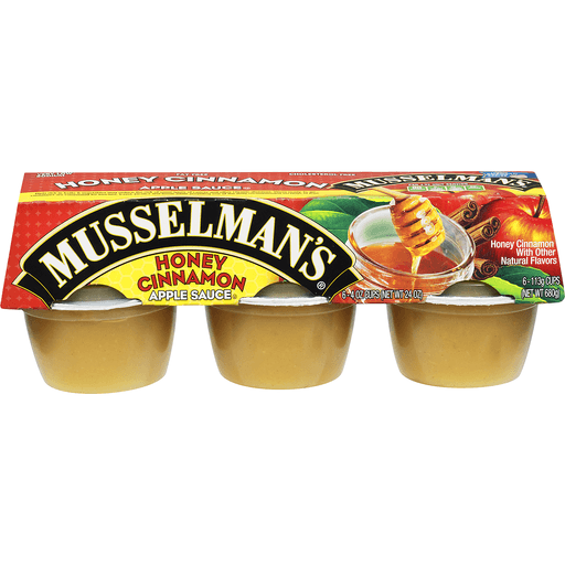 Musselmans Apple Sauce, Honey Cinnamon
