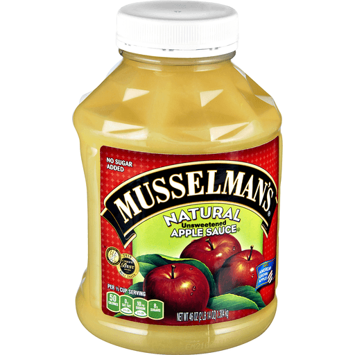 Musselmans Apple Sauce, Unsweetened, Natural